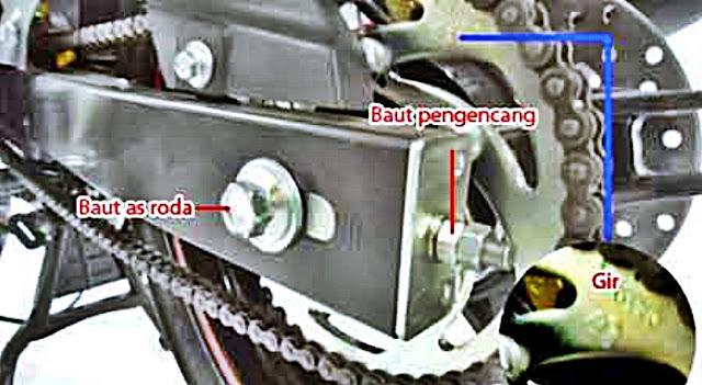 cara gampang mengencangkan rantai motor
