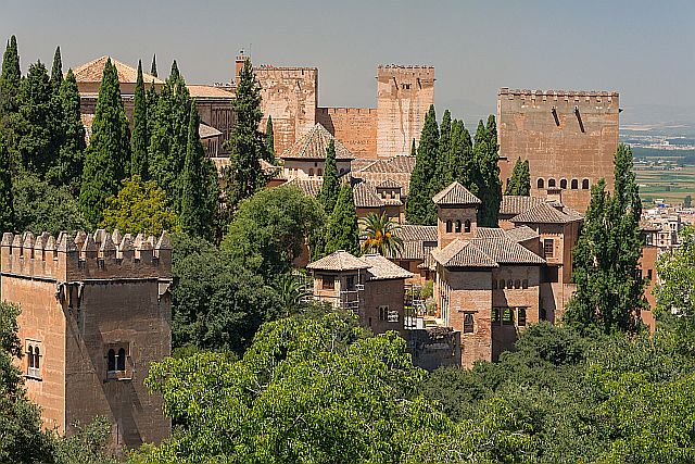 Red Tiled Roofs Of The Alhambra In Spain Wikipedia