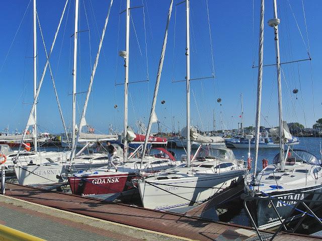 Władysławowo, port, łodzie, jachty,