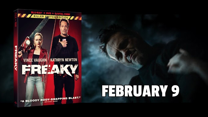 Freaky, starring Vince Vaughn and Kathryn Newton, arrives on Blu-ray and DVD February 9 (Universal)