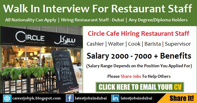 Walk in Interview in Dubai Tomorrow for Restaurant Jobs