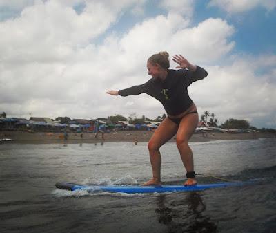 bali surfing lesson