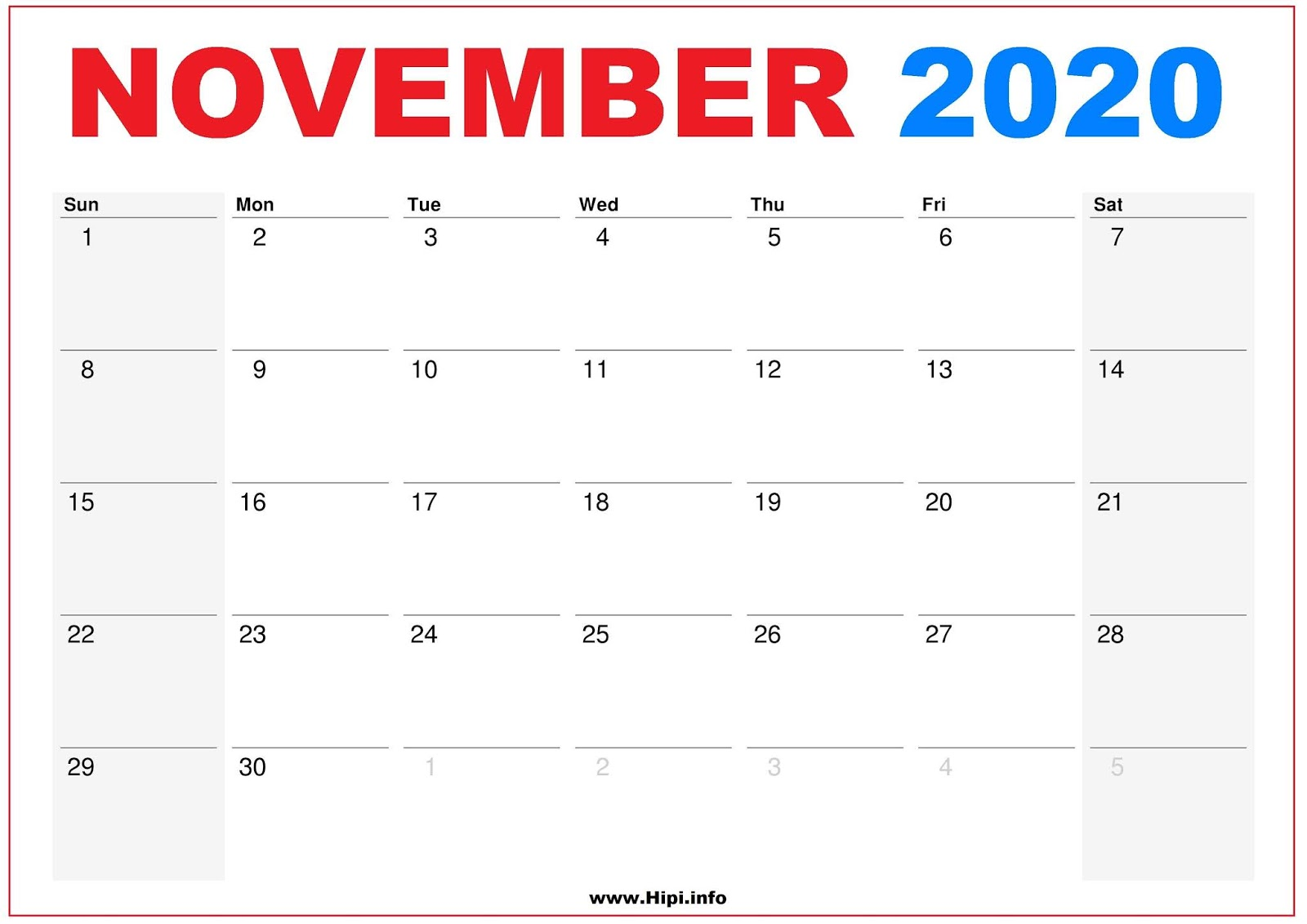 November 2020 Calendar Wallpaper Twitter Headers / Facebook Covers / Wallpapers / Calendars: 2020