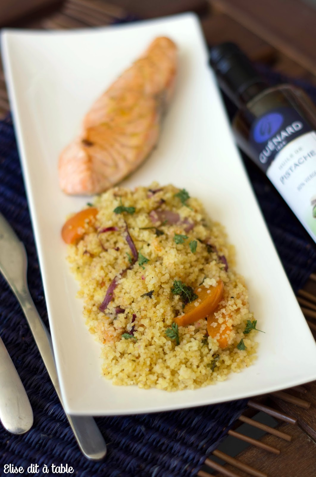 recette saumon et quinoa à la pistache