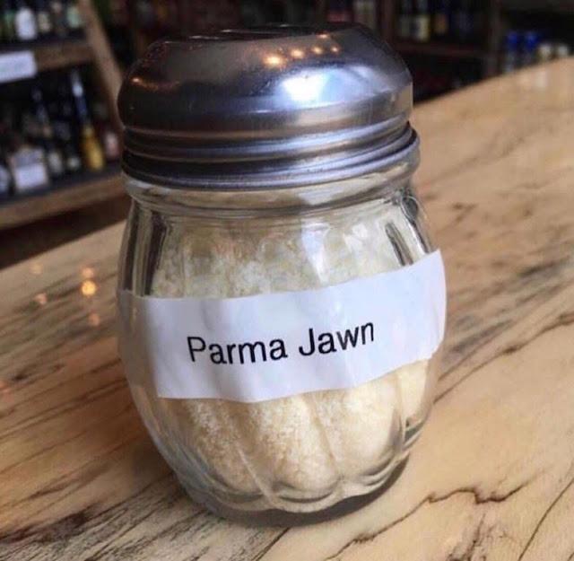 Funny Parma Jawn Parmesan Label Fail Picture