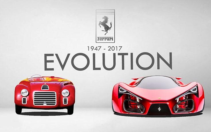 Η εξέλιξη της Ferrari μέσα από ένα βίντεο έξι λεπτών