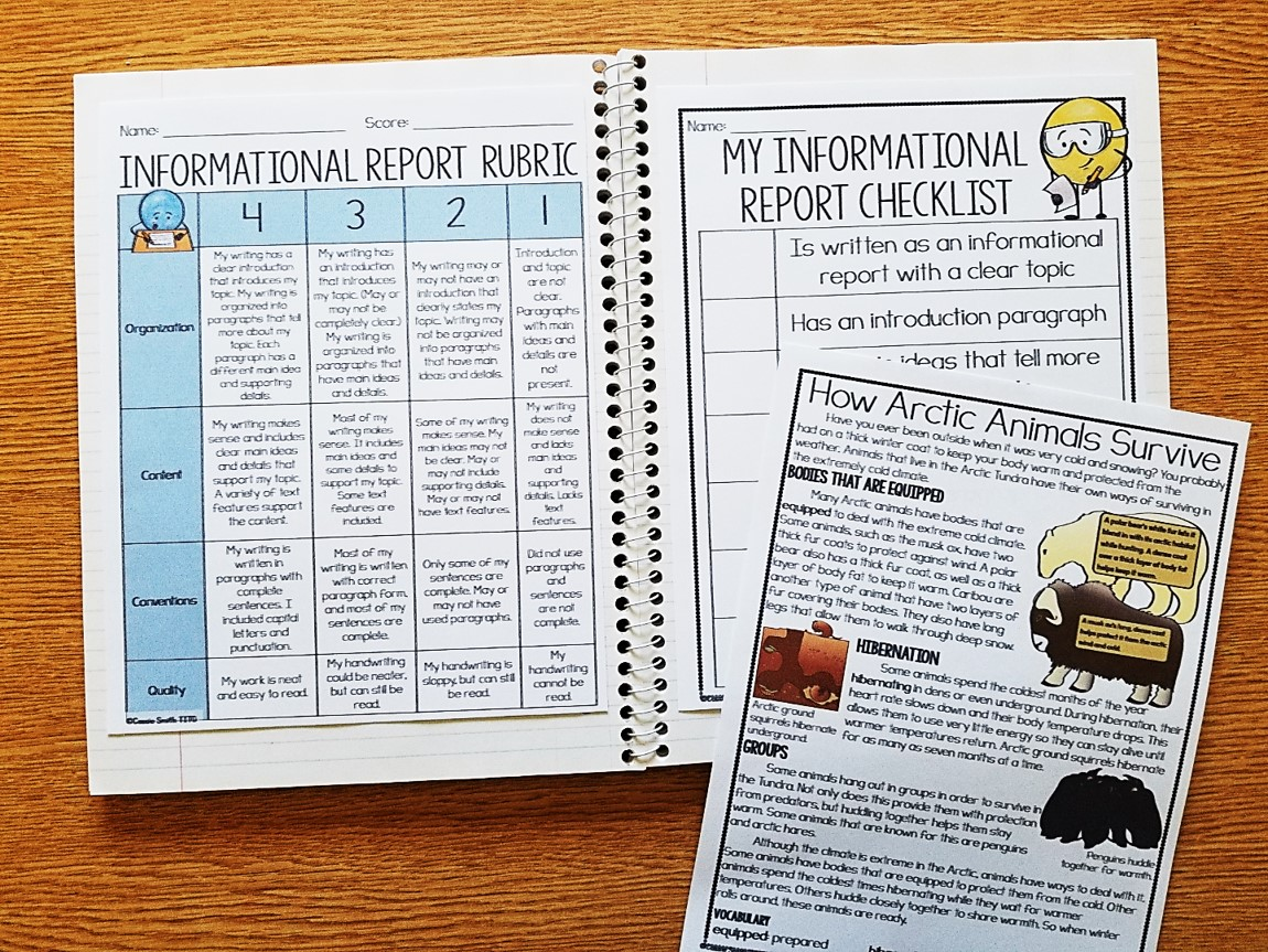 hight resolution of Informational Report Writing (Grades 2-5) - Thrifty in Third Grade