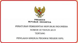 Download PP NO 30 Tahun 2019 Tentang Penilaian Kerja Pegawai Negeri Sipil (PNS)