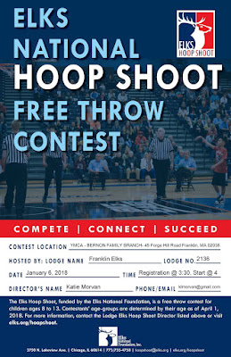 Franklin Elks Hoop Shoot - Jan 6, 2018
