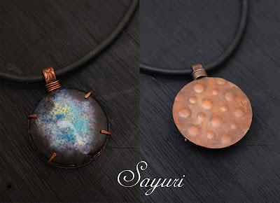 Crackle Enamel necklace by sayuri