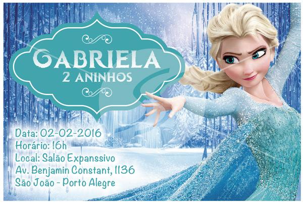 Convites de Aniversário Personalizados Frozen