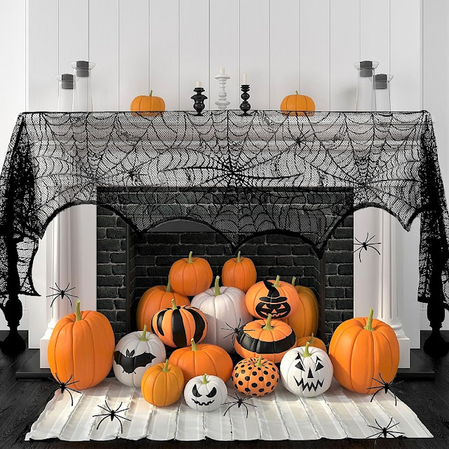halloween decor doesnu0027t have to by casual give it an elegant upgrade with some decorative lanterns pillar candles and pretty pumpkins