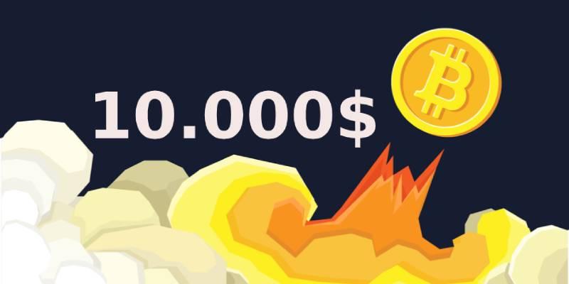 Bitcoin vale 10.000 dollari, nuovamente.