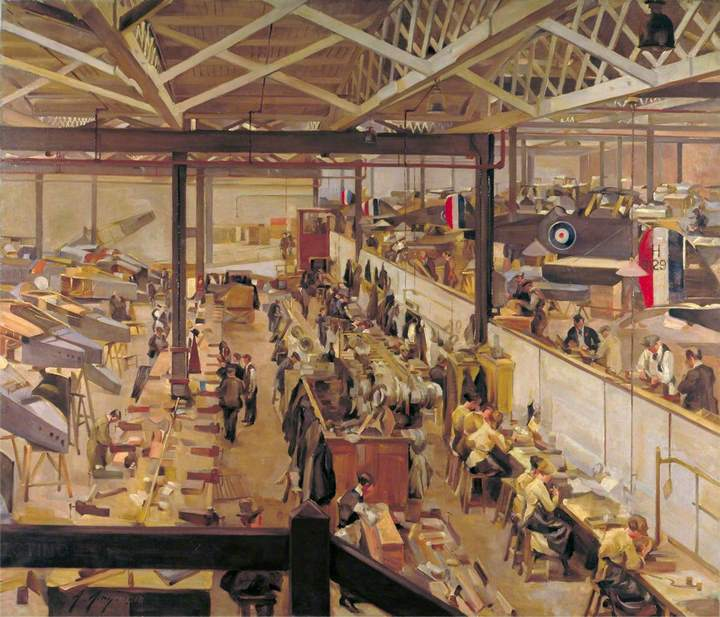 An Aircraft Assembly Shop Hendon. Anna Airy