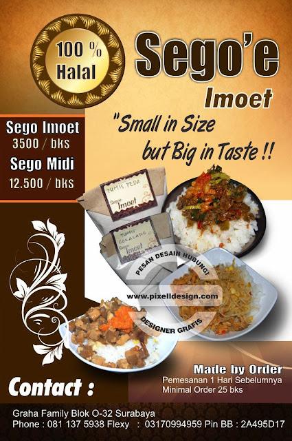 Iklan Brosur Promosi Makanan Kuliner