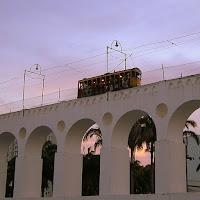 Tranvía sobre los Arcos de Lapa
