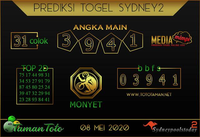 Prediksi Togel SYDNEY 2 TAMAN TOTO 08 MEI 2020