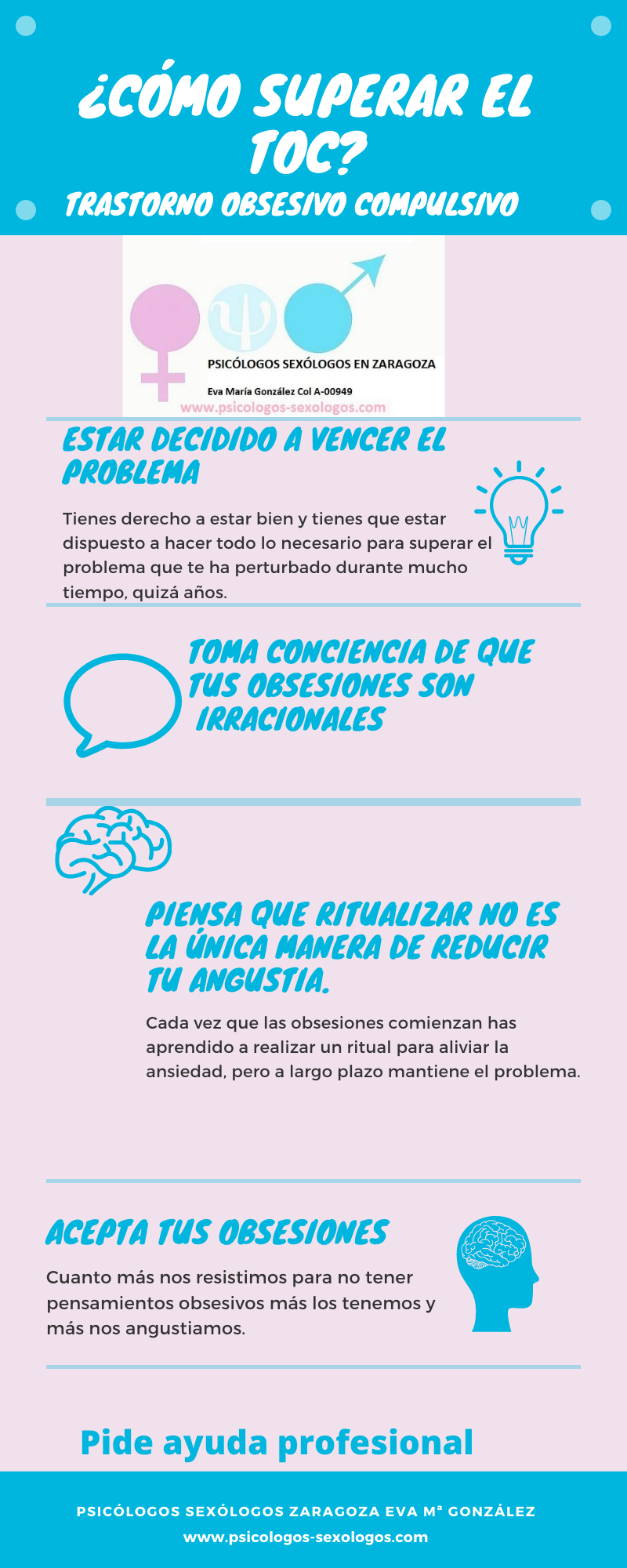 infografía trastorno obsesivo compulsivo TOC