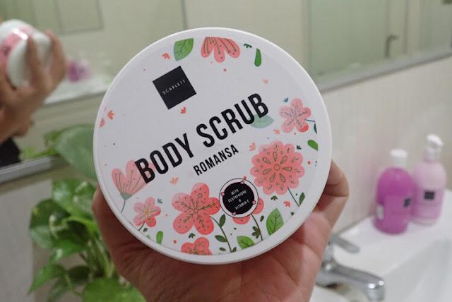 body scrub romansa scarlett whitening