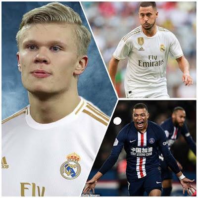 "Tam tấu 500 triệu euro của Real: ""Bố già"" chốt Haaland - Hazard - Mbappe 3"
