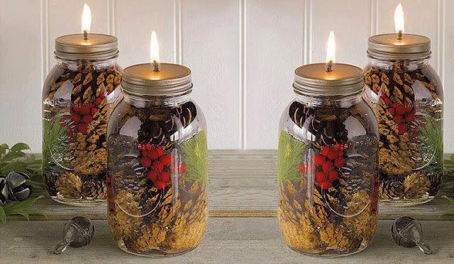 Diy Mason Jar Oil Candles For Christmas