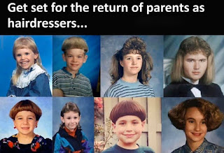 parents as hairdressers joke