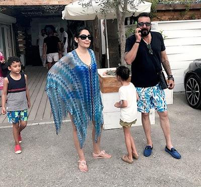 Manya Dutt with Sanjay Dutt