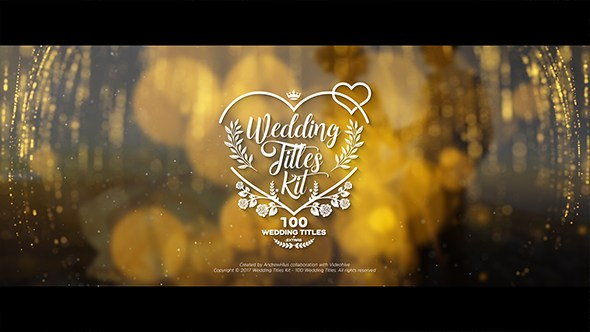 Wedding Titles Kit 100 Titles Videohide After Effects Template