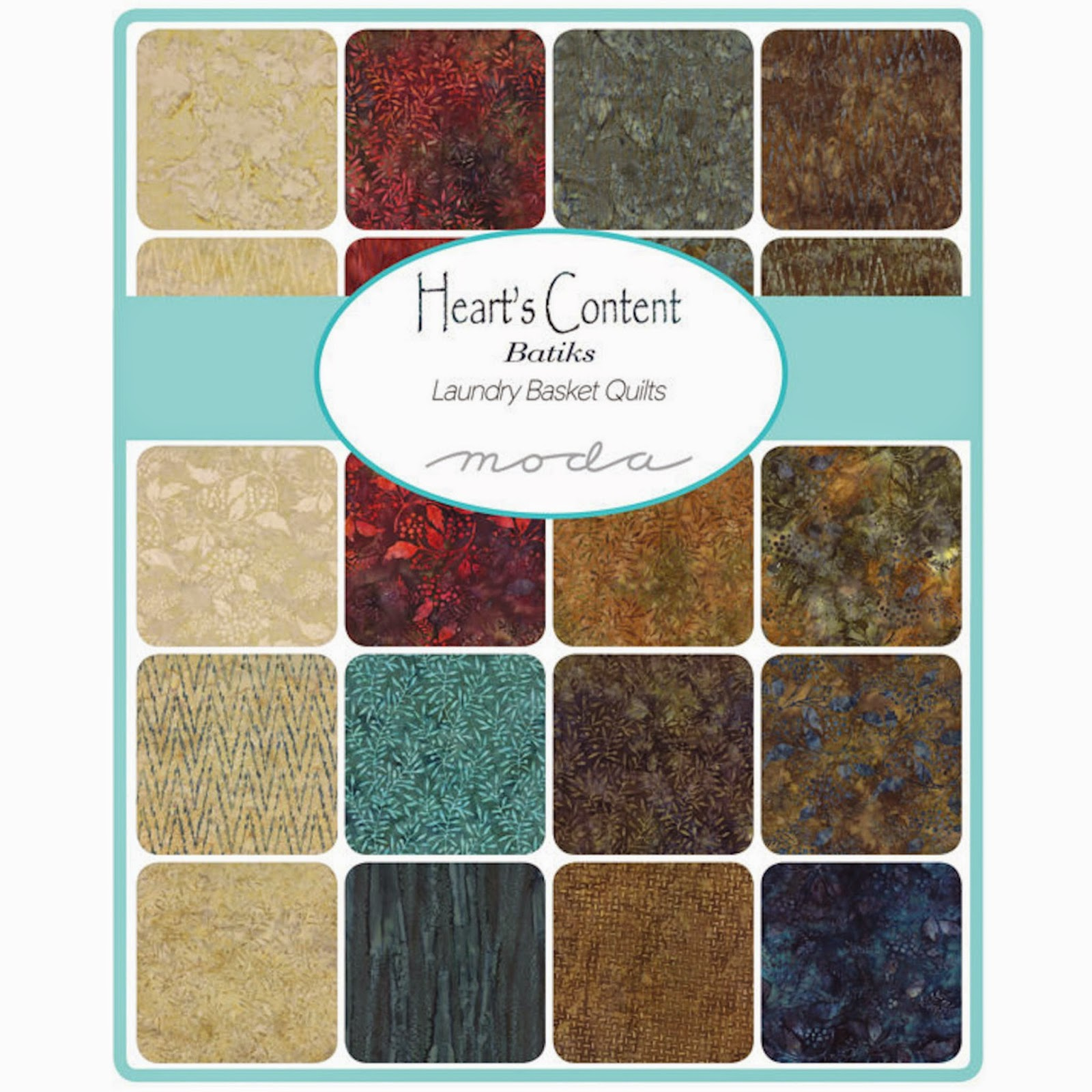 Moda HEART'S CONTENT BATIKS Fabric by Laundry Basket Quilts