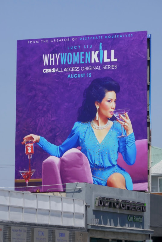 1980s socialite Why Women Kill billboard