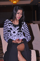 Akshatha in a lovely Leg Split Black Gown Cross legged Latest Stills 12.JPG