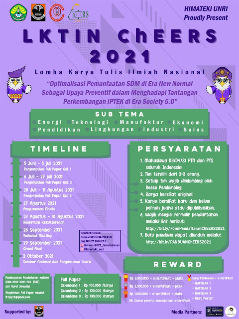 LKTIN ChEERS 2021 ( Chemical Engineering Paper Competitions)