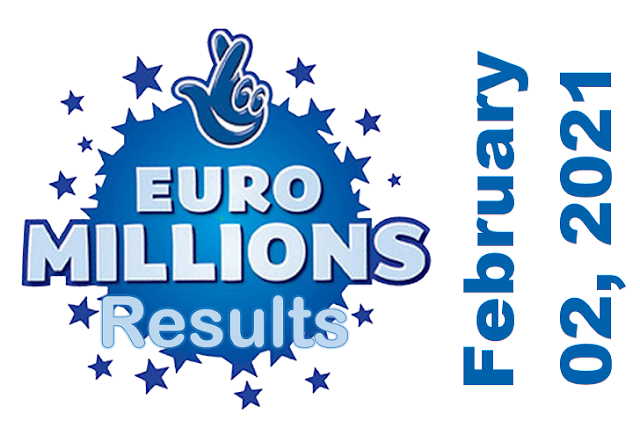 EuroMillions Results for Tuesday, February 02, 2021