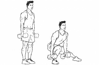 3. Dumbbell Rear Lunge