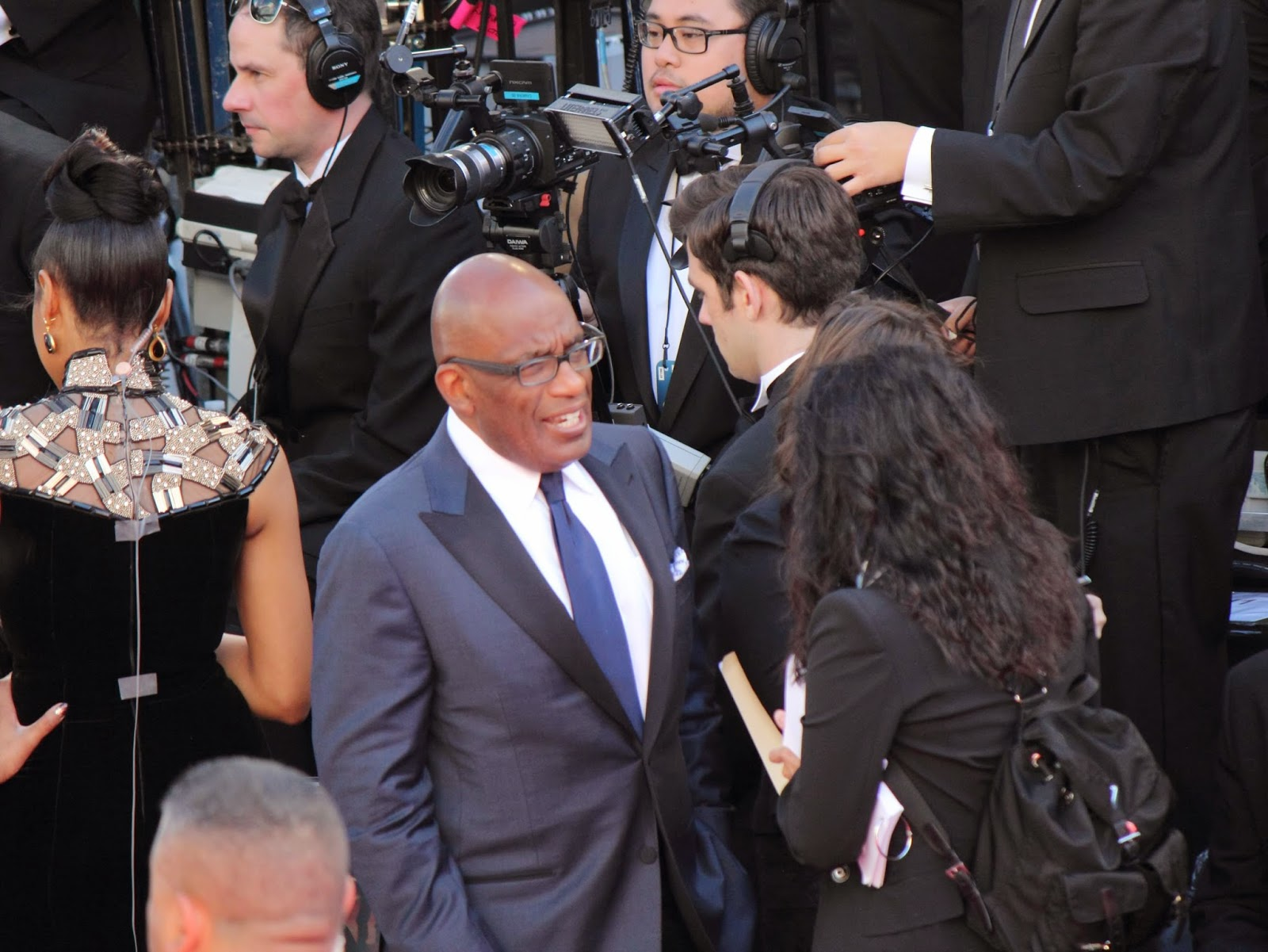 Al Roker on the red carpet for the 2013 Oscars