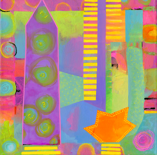 China Carnella Abstract Painting Tower of Power