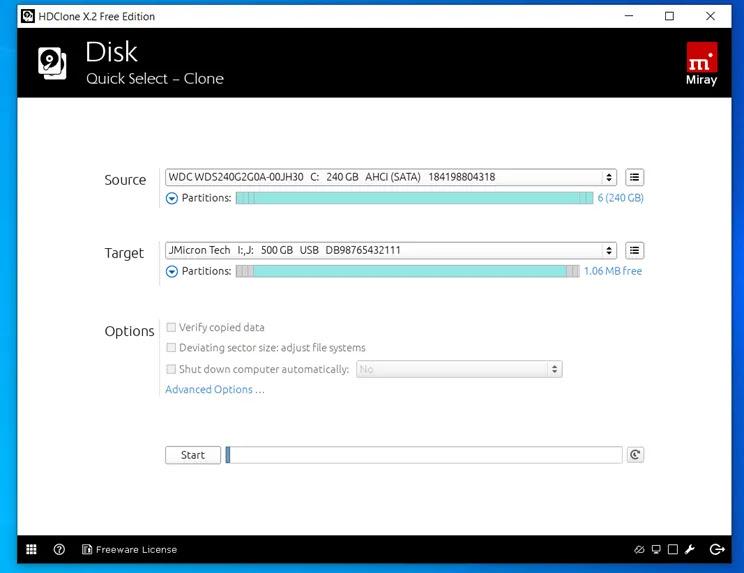 HDClone Free Edition:  Δωρεάν εργαλείο γενικής χρήσης  κλωνοποίησης HD ή  SSD