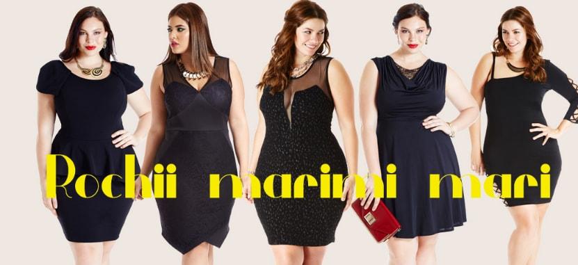 Rochii marimi mari elegante de zi de ocazii pentru femei plus size modele noi