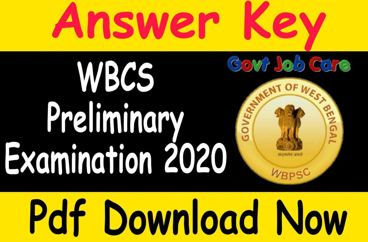 Wbcs Answer Key 2020 Pdf