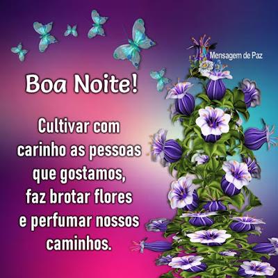 Cultivar com carinho as pessoas que gostamos,   faz brotar flores e perfumar nossos caminhos.  Boa Noite!