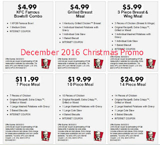 free Kfc coupons for december 2016