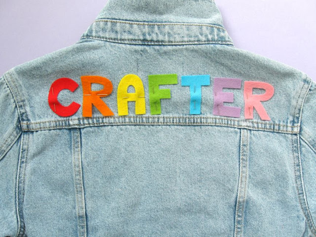 Decorating a denim jacket with lettering
