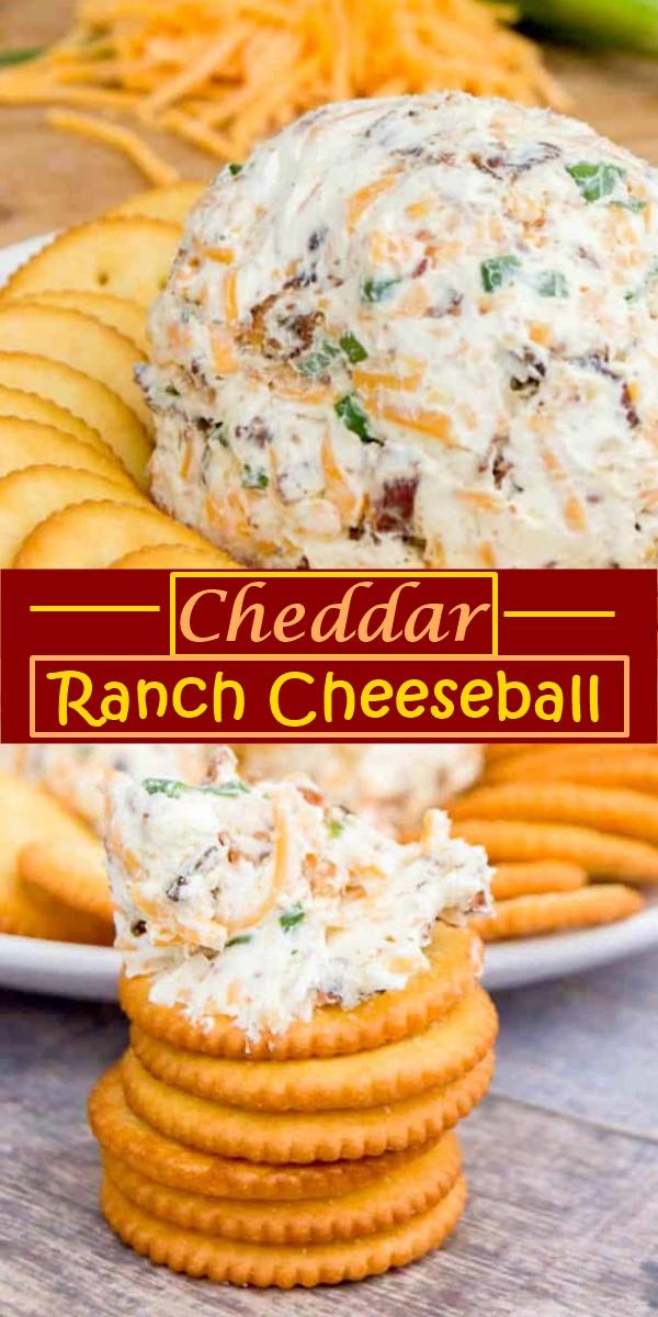 Cheddar Ranch Cheeseball #Appetizerrecipes