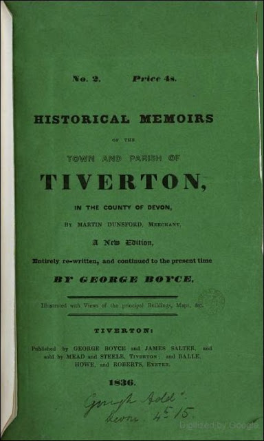 Historical Memoirs of the Town and Parish of Tiverton, in the County of Devon (George Boyce, 1836)
