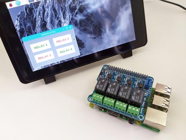 Hat Rele 4 Canais Raspberry Pi 3 B+