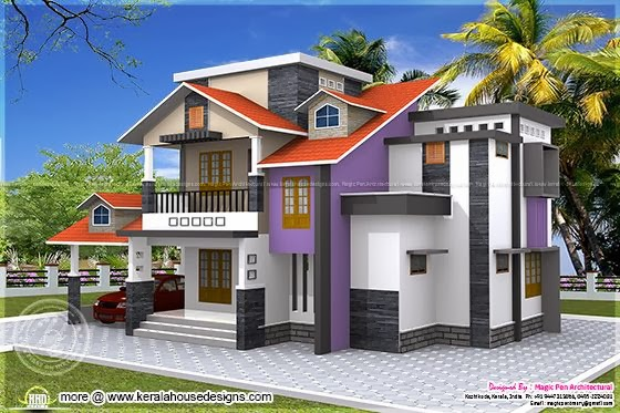 Colourful home design