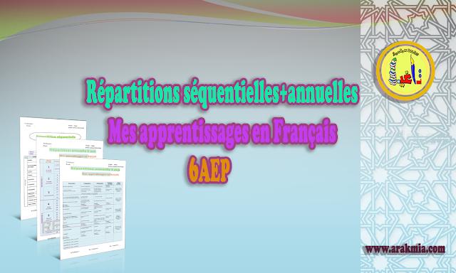 Répartitions séquentielles et annuelles 6aep mes apprentissages en français