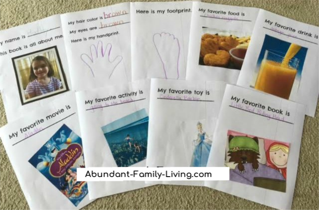 All About Me Booklet for Preschoolers