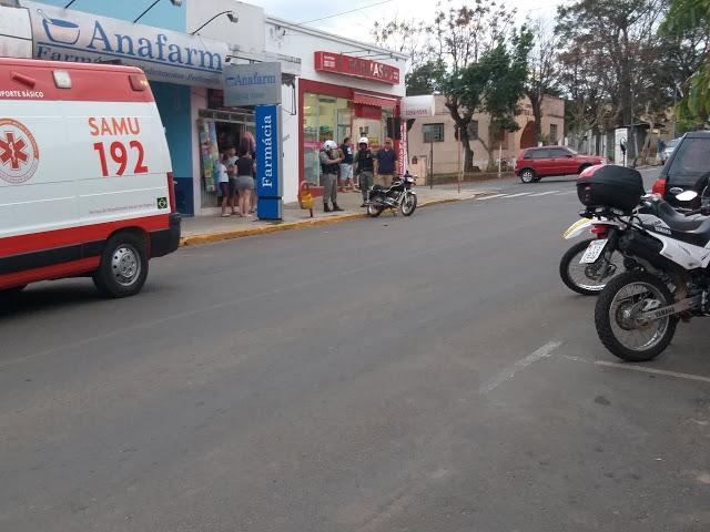 Motociclista sofre acidente em São Chico