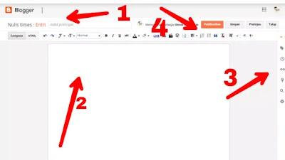 Cara buat postingan pertama blogger lewat hp android 2021